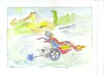 Alternative wheelchair II, akvarell, 2003