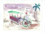 Alternative wheelchair III, akvarell, 2003