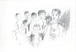 Anak-anak (ungar) I, Jogjakarta, Java, blyant I, 2003