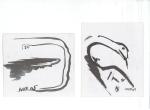 DANGER I, blekk på kartong, 2005