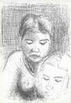 Dobbel potret I, Jogjakarta, penn, 2001