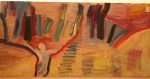 Figur i abstrakt rom - olje - 1985-019