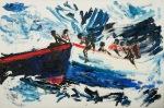 Framtida på havet (The future at sea), olje_61x40cm, 2011