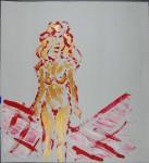 Gullmodell I, akryl, 2011
