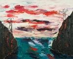 Hardangeraksjonen (The sabotage), olje_80x65cm, 2011