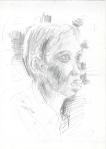 Indonesisk portrett, blyant, 2003