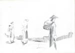 Indonesisk V, blyant, 2003