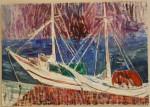 Indonesiske båtar - olje- 1996-030