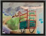 Jogjakarta I, akvarell, 1993
