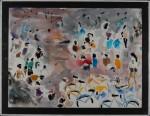 Jogjakarta II, akvarell, 1993
