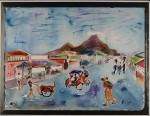 Jogjakarta IV, akvarell, 1991