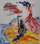 Konfrontasjon, akryl, 2011