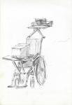 Korsi roda Komputer Printer(rullestol-data-printer), Jogjakarta, penn, 2001