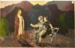 Møte i parken - olje, tekstil - 1986-014