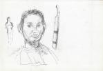 Perempuan dan Potret (jente og portrett), Jogjakarta, penn, 2001