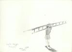 Perempuan dan Tangga (jente med stige), Jogjakarta, blyant, 1998