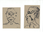 Portrett II, blekk på kartong, 2012