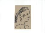 Portrett III, blekk på kartong, 2012