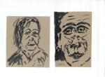 Portrett IX, blekk på kartong, 2012