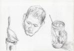 Potret dan Gelas minum, Jogjakarta, penn, 2001