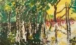 Regnskogen brenn I (The rainforest is burning), olje_100x61cm, 2008