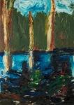 Regnskogen brenn II (The rainforest is burning), olje_61x85cm, 2008