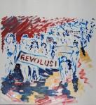 Revolusi I, akryl, 2011