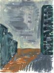 Romansk II, Italia, olje på papir, 1999
