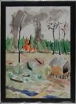 Sampit, Kalimantan I, akvarell, 1998