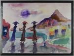 Seremoni, akvarell, 1991