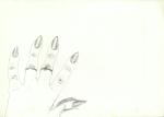 Tangan artis saya (mi artisthand), Jogja, blyant, 1998