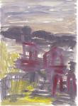 Teikn i landskap II, olje på papir, 1999