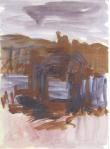 Teikn i landskap III, olje på papir, 1999