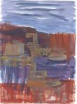 Teikn i landskap IV, olje på papir, 1999
