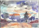 Tropestorm, akvarell, 1995
