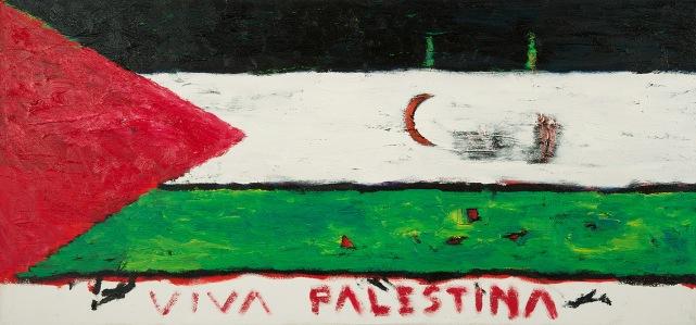 Viva Palestina, olje_85x40cm, 2013