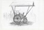Warung kecil Korsi roda besar (stor rullestol-salgsvogn), Jogjakarta, penn, 2001