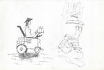 Warung kecil Korsi roda (rullestol-salgsvogn) I, Jogjakarta, penn, 2001