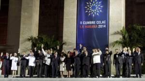 Statsleiarar frå medlemslanda i Celac, Havanna, 30. jan 2014