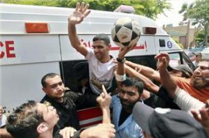 Palestinian football player Mahmoud Sarsak