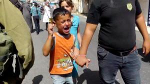 Palestinsk femåring arrestert av soldatar, juli 2013-2