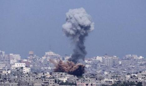 Gaza City vert bomba, juli 2014