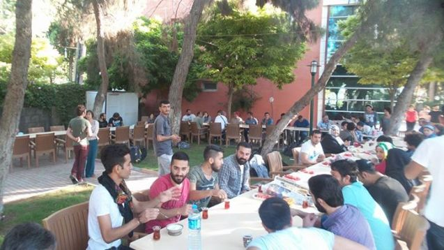 Turkish Federation of Socialist Youth Associations - in Suruc before the bomb blast 20.07.15