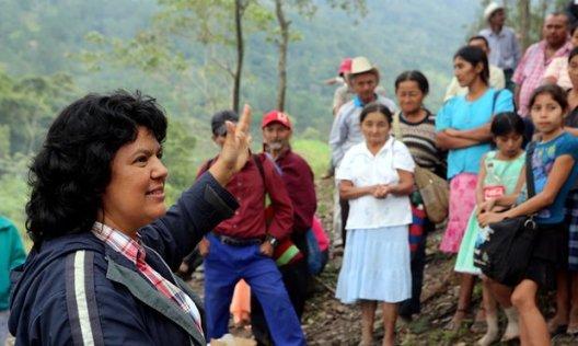 Berta Cáceres-murdered Honduran activist, Feb. 2016