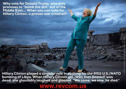 War criminal H. Clinton